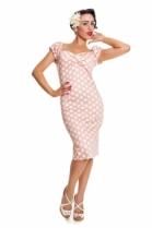 Dolores Dress Polka Pink