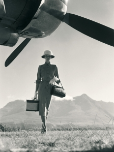 Norman Parkinson's photograph of his wife Wenda at Nairobi Airport